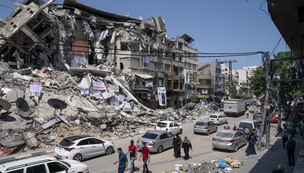 ØDELAGT: De israelske angrepene mot Gazastripen tidligere i måneden forårsaket store materielle ødeleggelser og kostet over 250 palestinere livet, blant dem minst 66 barn.