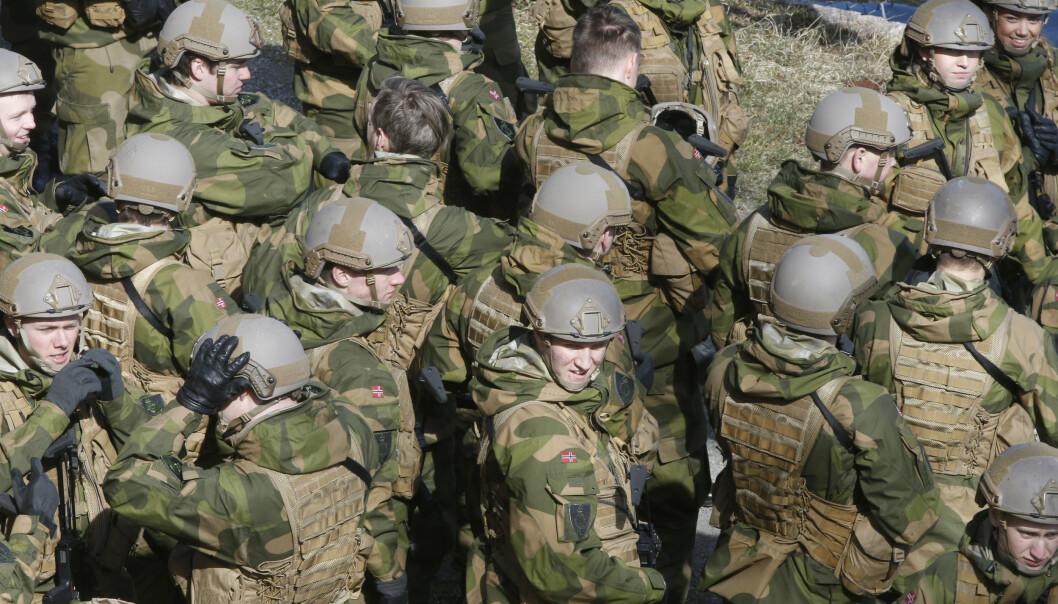 SOLDATER: Kjønnssykdommer var mer vanlig enn influensa blant soldater i fjor.