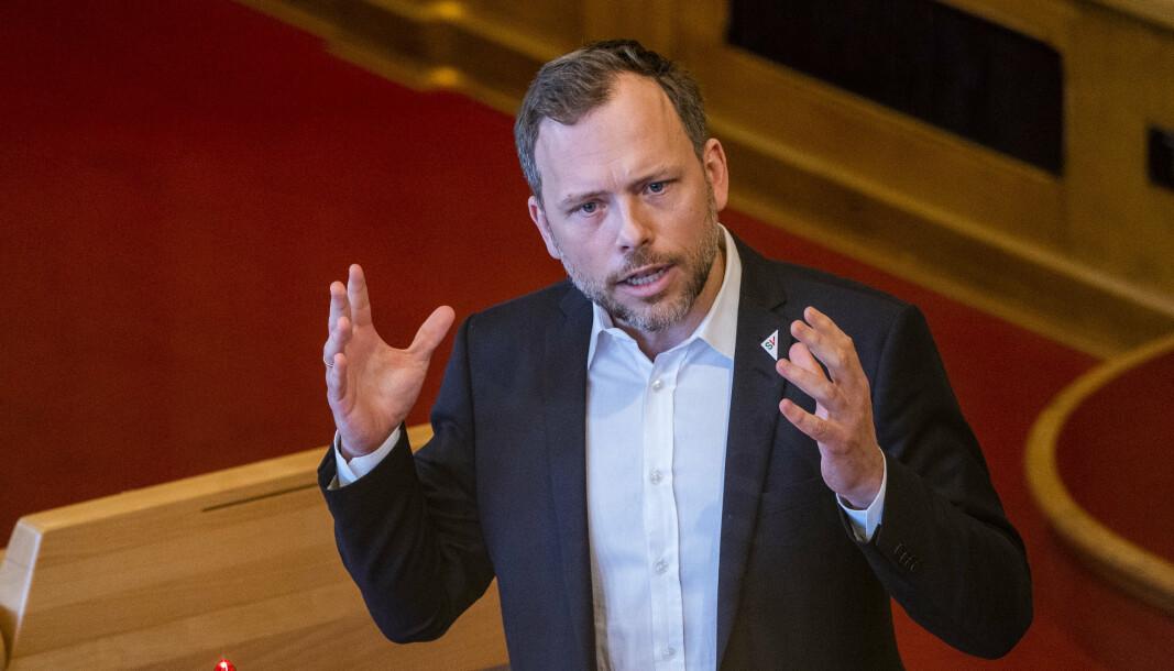 SKRIFTLIG SPØRSMÅL: Audun Lysbakken stiller skriftlig spørsmål til forsvarsminister Frank Bakke-Jensen om e-lovens kapittel 7 og 8.