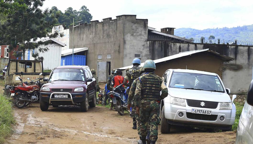 DRAP: En lokal sivilsamfunnsleder mener gruppen Allied Democratic Forces (ADF) står bak drapene. Her er FN-soldater i Kong.