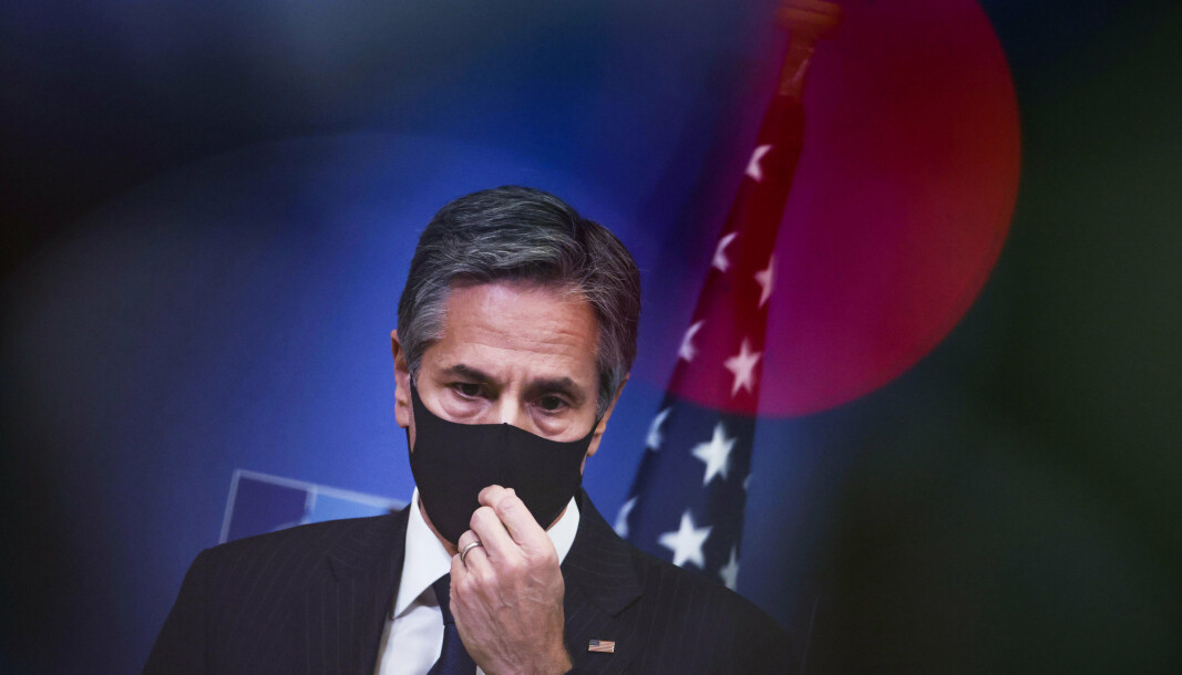 SAMARBEID: USAs utenriksminister Antony Blinken har uttalt at forsvarsavtalen som er inngått med Norge vil styrke sikkerhetssamarbeidet mellom landene.