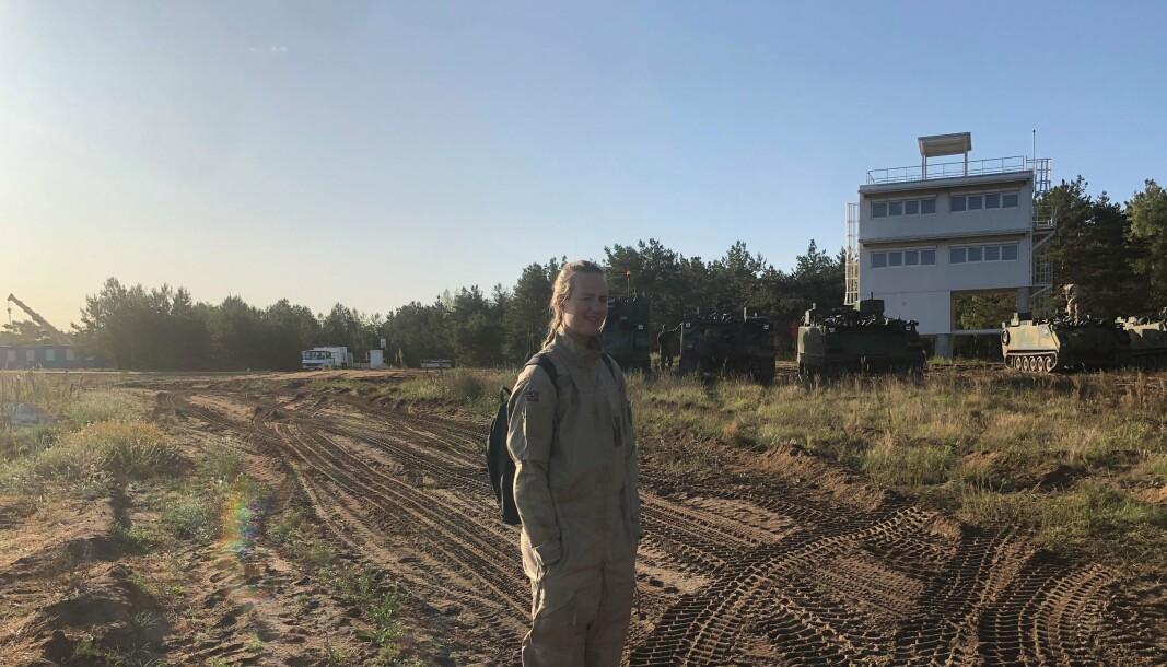 ØVELSE: Her er Pernille Solheim på øvelse i Litauen i 2019.