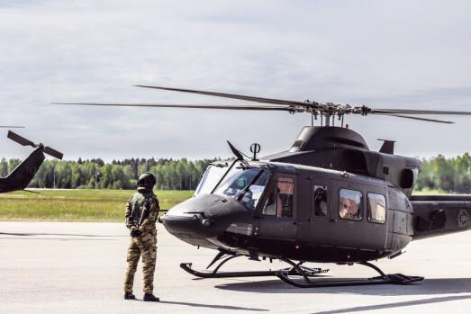 339 SKVADRON: Et helikopter som er del av 339 skvadron som støtter spesialstyrkene.