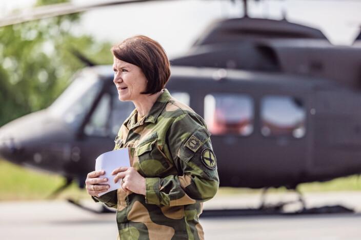 SJEF LUFT: Generalmajor Tonje Skinnarland ser fram til investeringer i infrastruktur på Rygge som del av avtalen med USA.