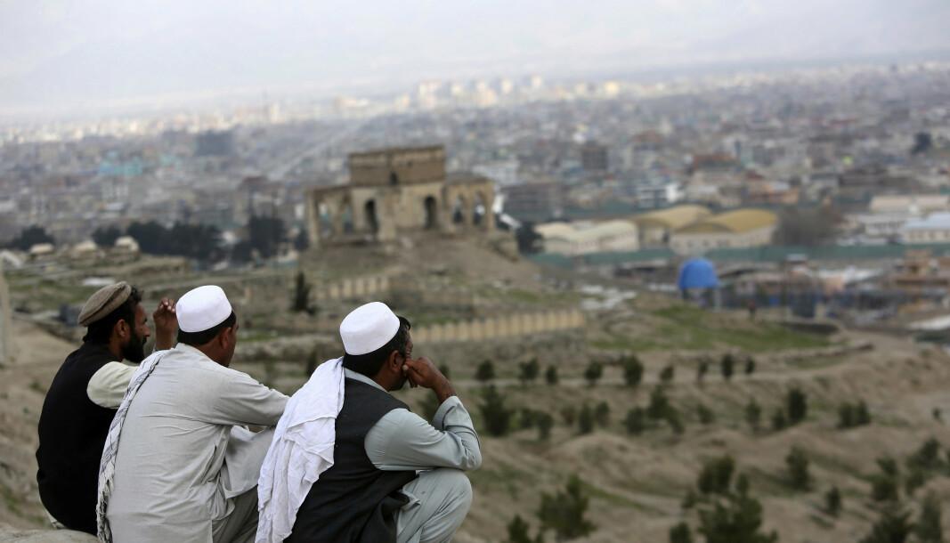 DREPT: I følge FN skal minst 40 være drept det siste døgnet i den afghanske byen Lashkar Gah. Byen på bildet er Kabul.