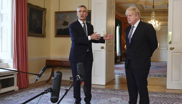 MØTE: Natos generalsekretær Jens Stoltenberg og statsminister Boris Johnson.