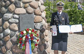 Liasonoffiser Lysgård fikk amerikansk medalje