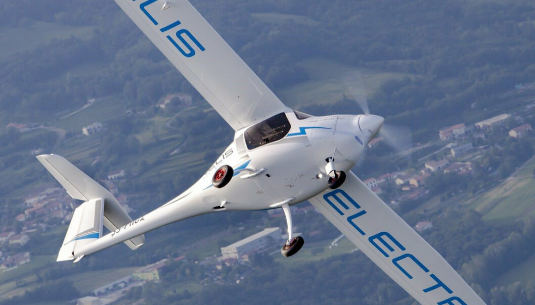 ELEKTRISK: Et fly av typen Pipestrel Velis Electro som skal brukes av Det danske forsvaret.