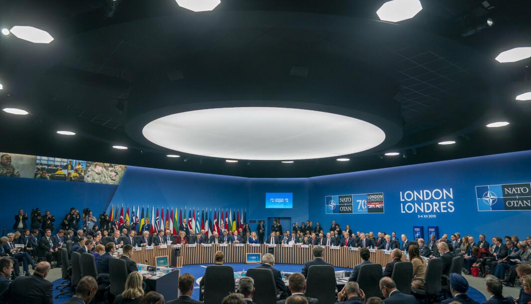 VIL HA TILSTEDEVÆRELSE: Baltiske land ønsker tilstedeværelse før Nato-toppmøte. Dette er fra toppmøte i 2019.