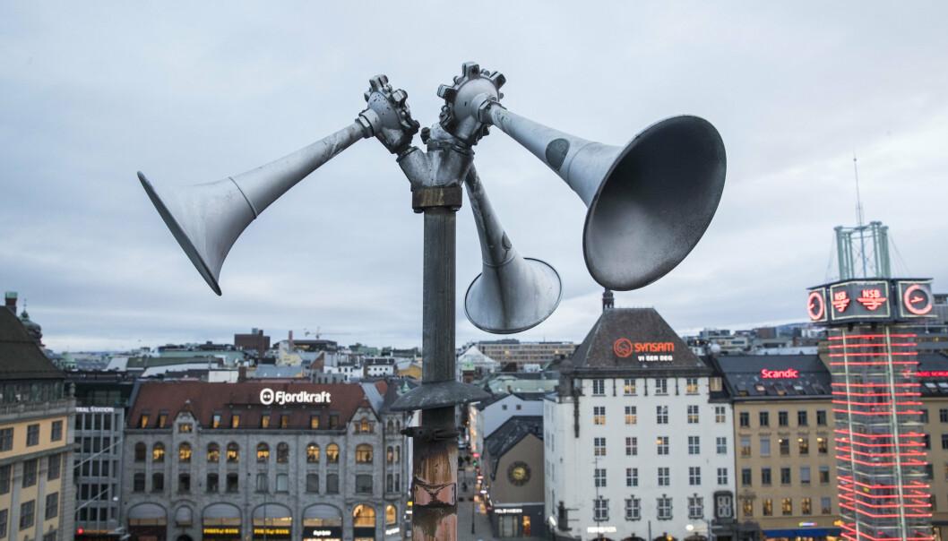 Tyfoner på Oslo Torg.