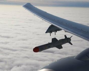 Skjøt Harpoon-missil for første gang i Europa