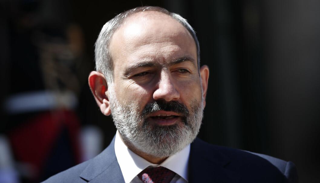 VIL BYTTE: Armenias statsminister Nikol Pasjinian håper på gjenvalg i parlamentsvalget om halvannen uke.