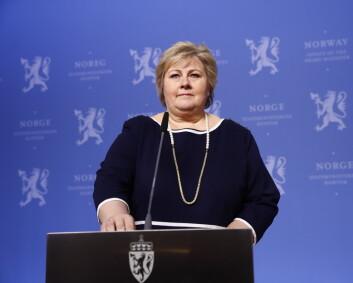 Erna Solberg sier nei til globalt Nato