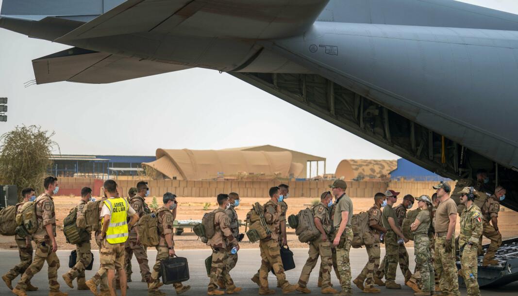 BIDRA: President Emmanuel Macron vil hente hjem franske styrker fra Sahel, og mener andre land må bidra mer til bekjempelsen av militante islamister i regionen.