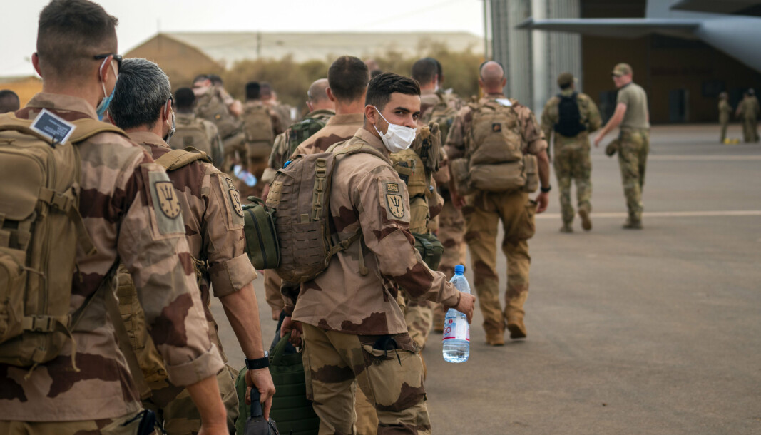 AVSLUTTES: Franske soldater forlot basen i Gao i Mali onsdag denne uken etter at deres fire måneder lange oppdrag er over. Dagen etter varslet president Emmanuel Macron at den franskledede operasjonen avsluttes i sin nåværende form.