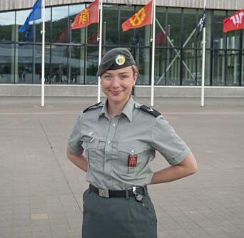 HOVEDTILLITSVALGT: Linnea Røbech er hovedtillitsvalgt i hæren.