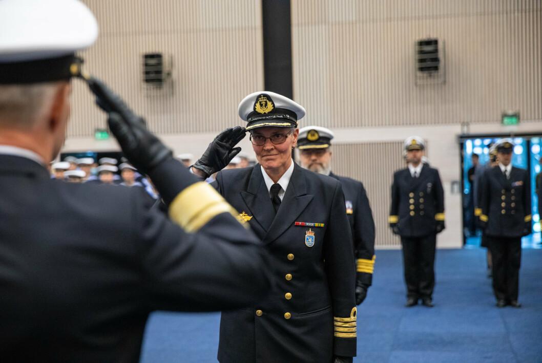 Kommandør Tone Størksen tok over som sjef for Sjøforsvarets baser på Haakonsvern og Ramsund i 2020.