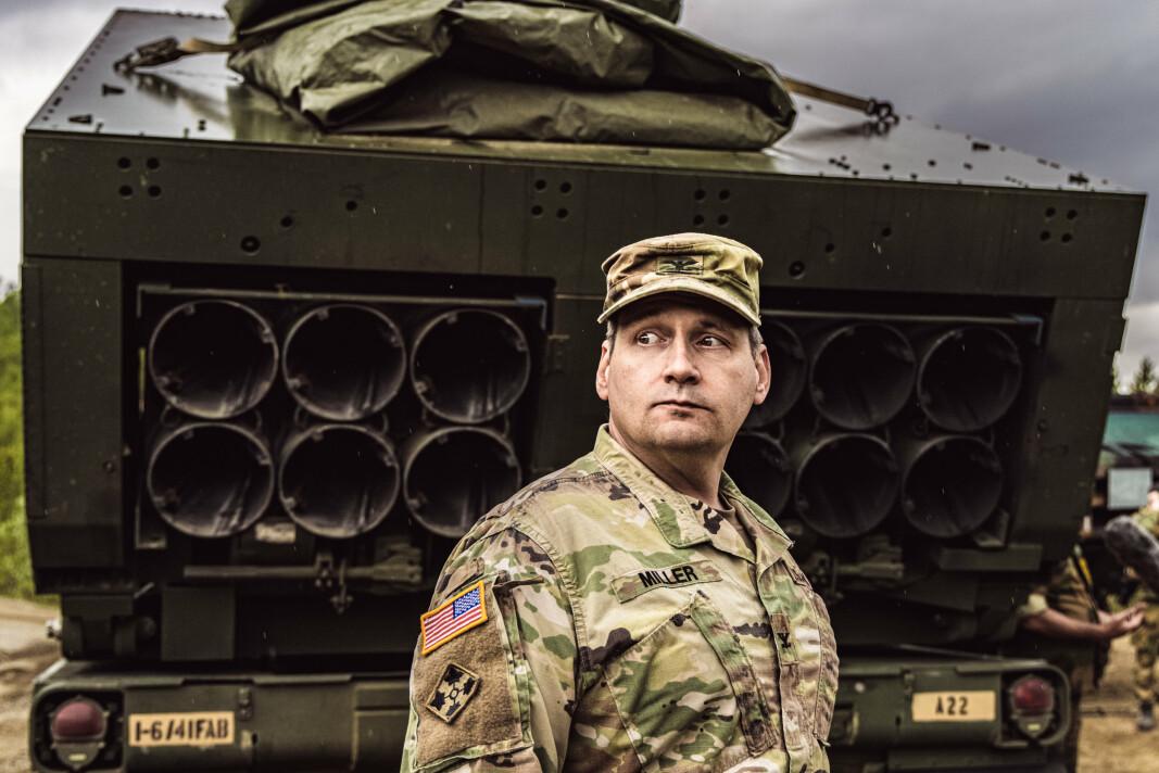 ARTILLERISJEF: Oberst Daniel Miller, sjef for 41st Field Artillery Brigade.