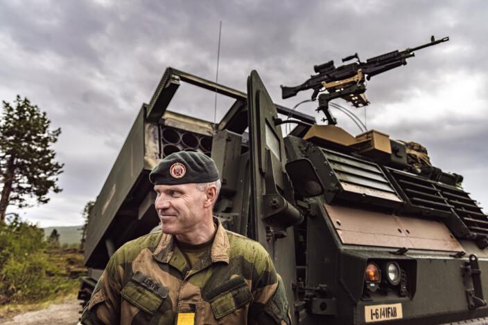 SJEF HÆREN: Generalmajor Lars Lervik var med på skarpkytingen.