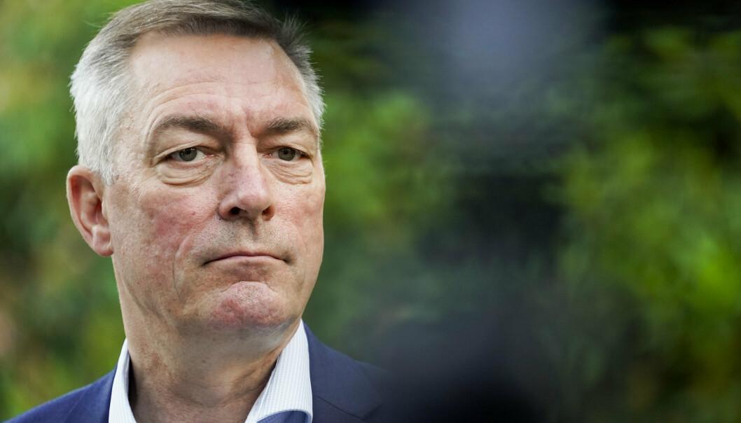 I BRUSSEL: Forsvarsminister Frank Bakke-Jensen (H) sier at det ikke er noe som tyder på at USA har spionert på norske politikere. Her er han avbildet i Brussel søndag, hvor han mandag skal delta på Nato-toppmøtet.