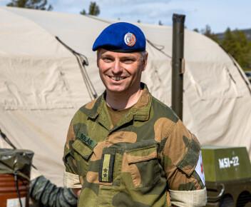 Sjef for Sanitetsbataljonen i Brigade Nord, Rasmus Solås.