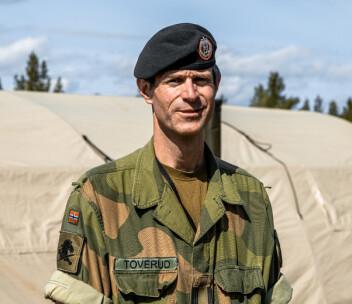 Veterinær i Forsvaret Simen Forr Toverud.