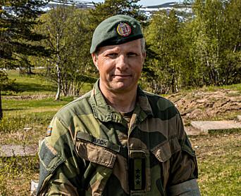 Sjef for Finnmark landforsvar, Tomas Beck.