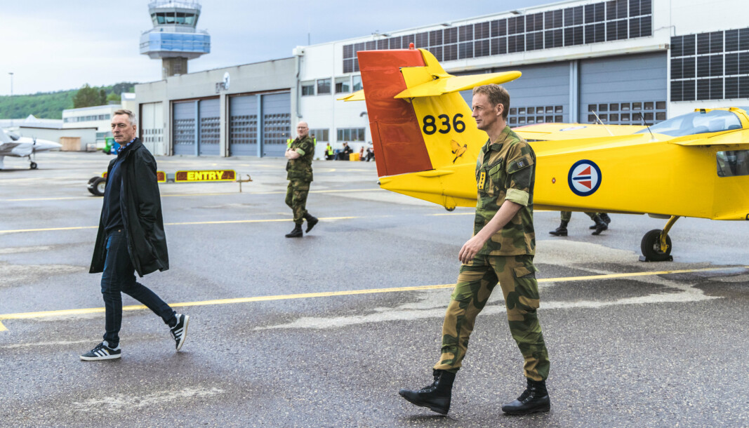 FORSVARSTOPPER: Både Forsvarsminister Frank Bakke-Jensen og Forsvarssjef Eirik Kristoffersen deltok på åpningen av det nye innovasjonssenteret, som skal ligge på Setermoen.