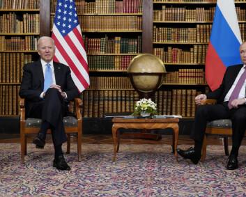 Optimistisk tone under toppmøtet mellom Putin og Biden