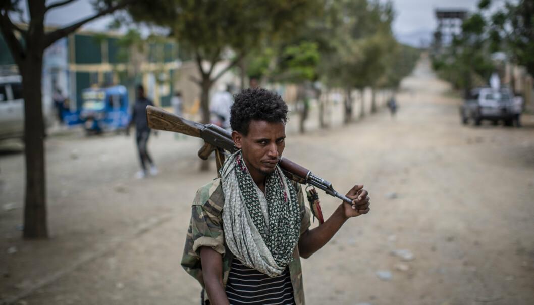 VALG: Krig, sult og etnisk og politisk uro preger Etiopia, men mandag holder landet likevel valg på ny nasjonalforsamling. Millioner av etiopiere får ikke stemme, andre boikotter valget, og internasjonale observatører holder seg unna. Innbyggerne i den krigsherjede Tigray-regionen (bildet) får ikke delta i valget.