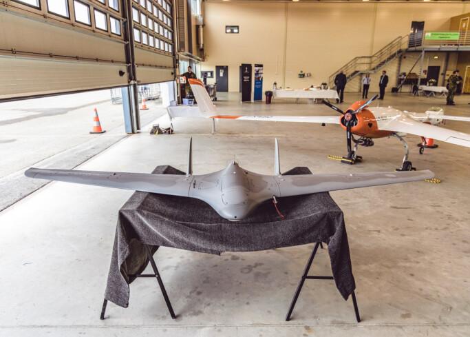 FORSKNINGSPROSJEKT: Slik ser den ubemannede dronen ut, som ble demonstrert på åpningen av Ice Worx Artic.