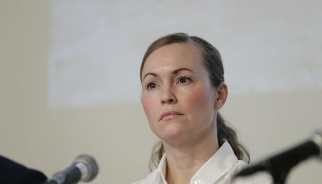 OMFATTENDE: Sjef for kontraetterretning Hanne Blomberg i PST sier til NRK at de tror Kina står bak et omfattende dataangrep mot statsforvalterne i 2018.