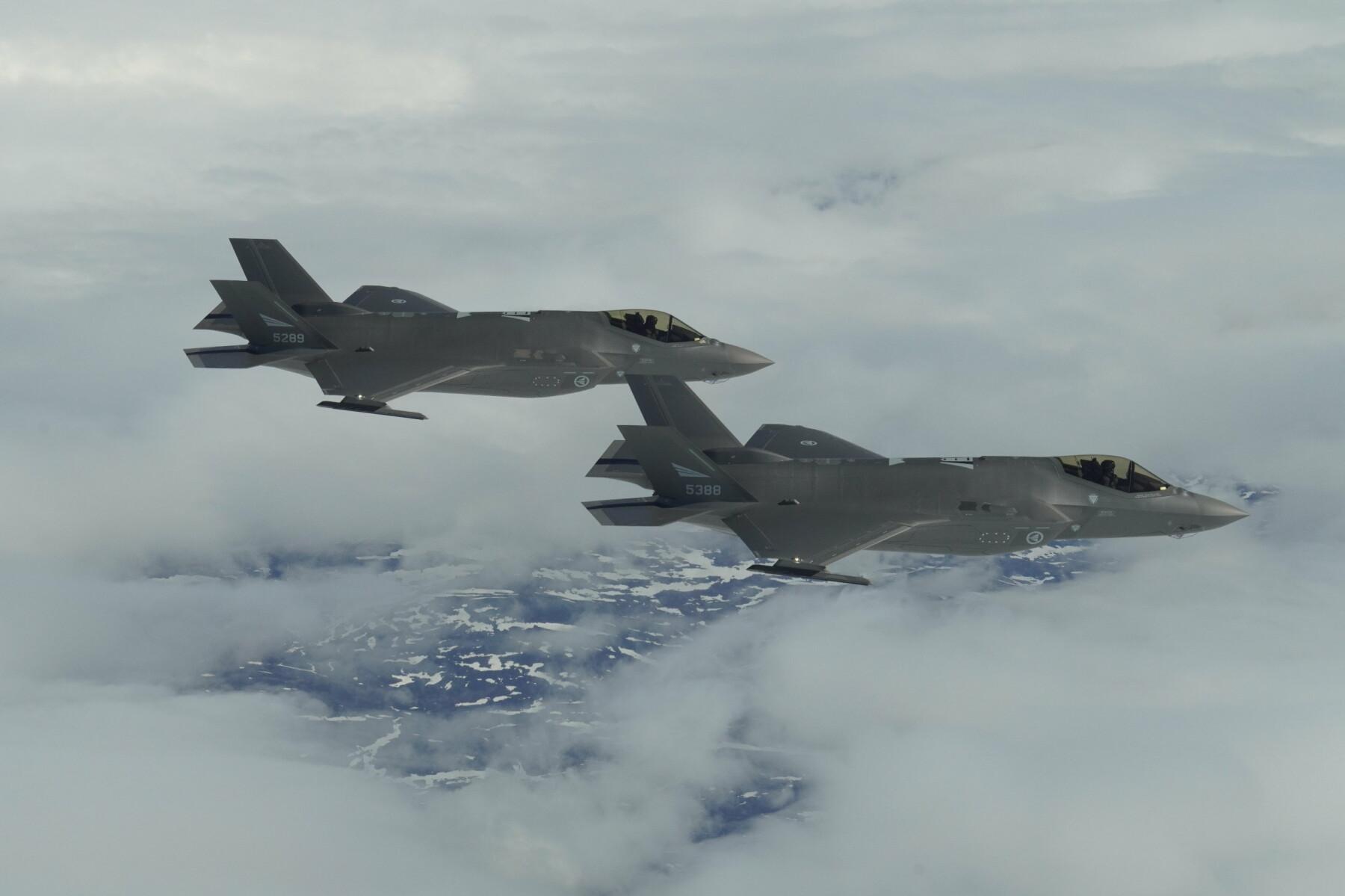 ØVELSE: To norske F-35A under øvelsen ACE-21