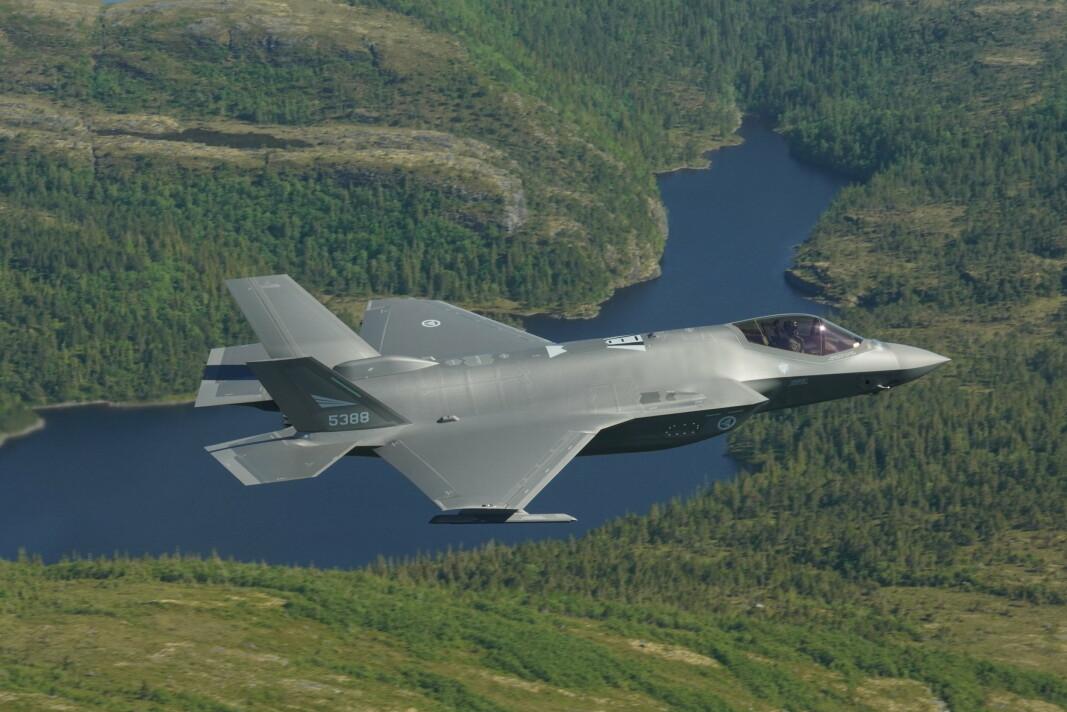 ØVELSE: Norsk F-35A under øvelsen ACE-21.