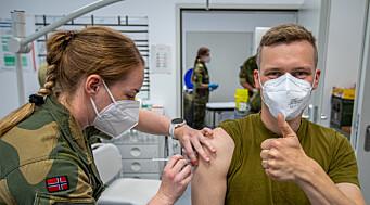 Norske soldater i Litauen fikk vaksiner av Canada