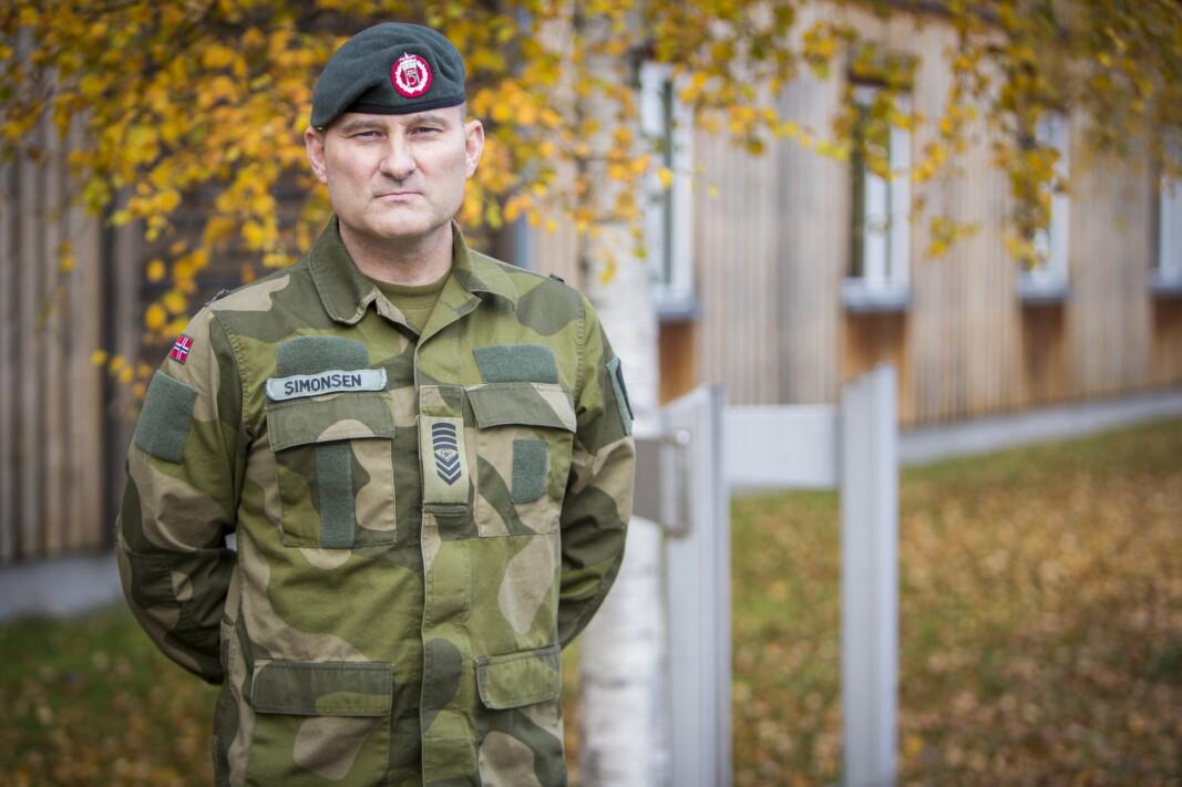 NY STILLING: Sersjantmajor Kristian Simonsen overtar jobben som sjefsserjsant i Hæren.