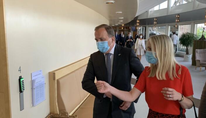 TO VALG: Statsminister Stefan Löfven har én uke på seg til å bestemme hva han vil gjøre.