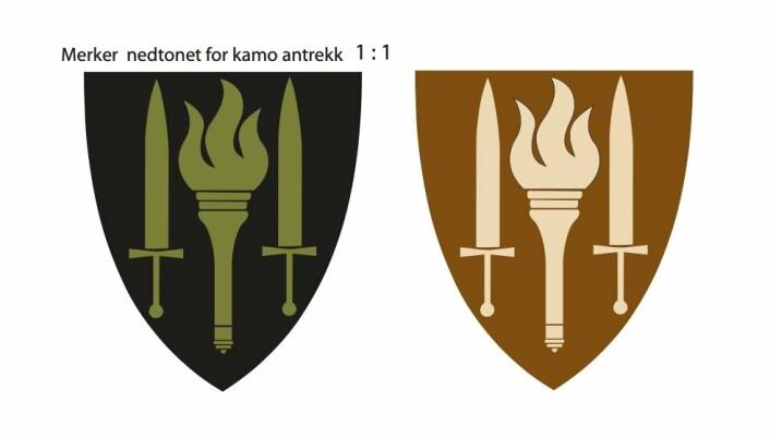 KAMO: Slik ser våpenet ut i nedtonede farger for kamoantrekk.