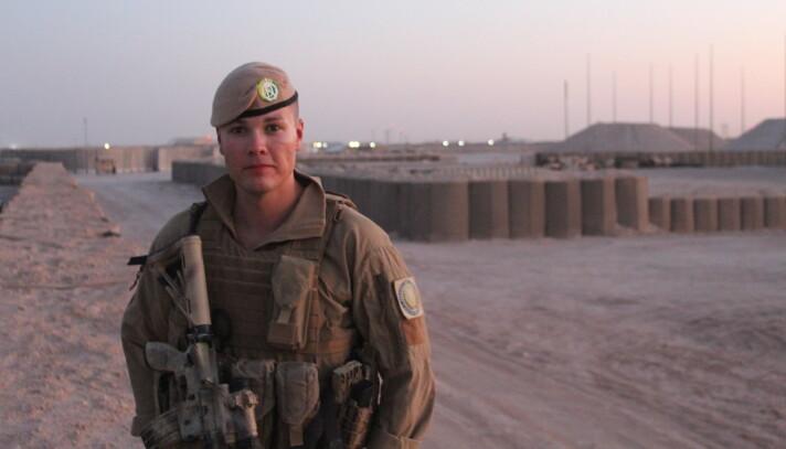 STYRKESJEF: 28 år gamle Andreas Hultgren er styrkesjef for den norske styrken i Irak.