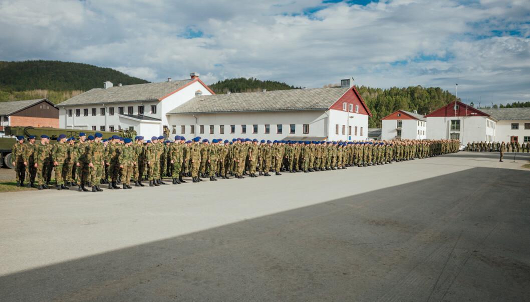 KARANTENE: 350 soldater er i karantene etter helgens smitteutbrudd i Tromsø. Elleve soldater har testet positivt.