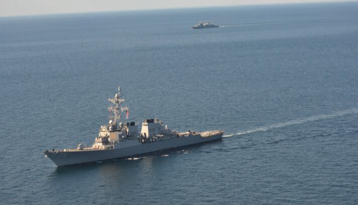 SPENT OMRÅDE: Nato skal øve i Svartehavet fra 28.juni. 32 skip deltar i øvelse Sea Breeze.