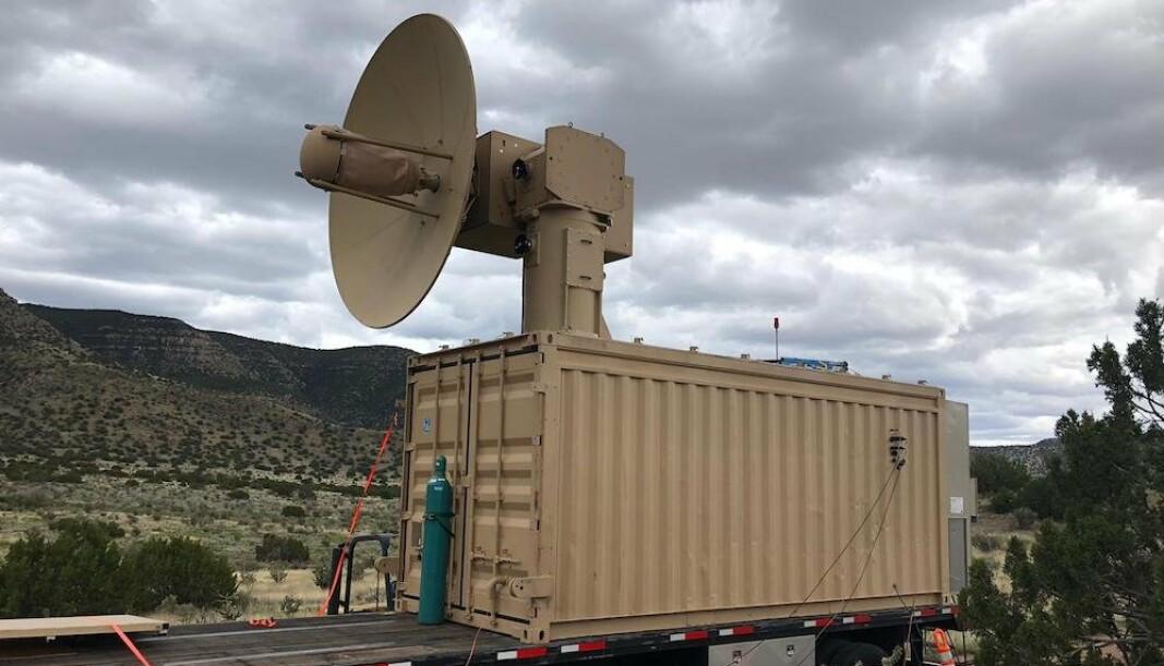 THOR: Systemet som skal beskytte mot dronesvermer i forbindelse med testing i felt.