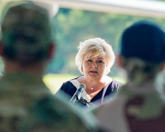 Statsministeren til de hjemvendte soldatene: – Velkommen hjem