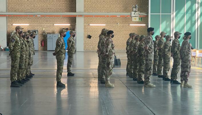 TRENING: Spesialsoldatene som kom til Norge lørdag jobbet med å trene afghanske sikkerhetsstyrker.