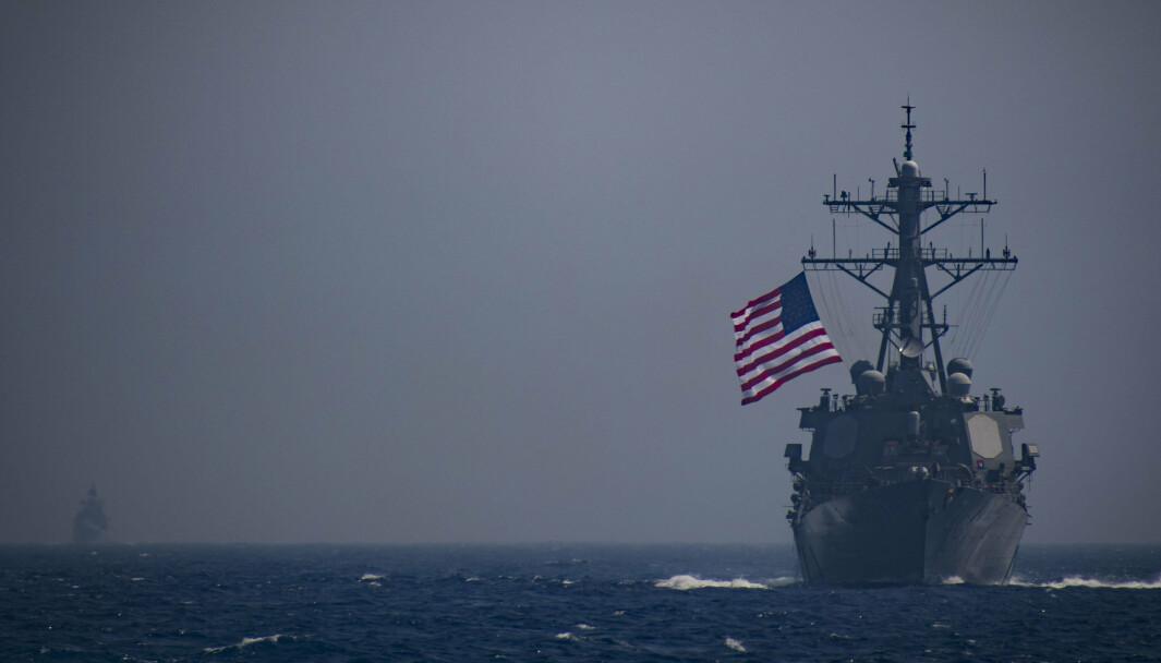 DELTAR: Destroyeren USS Ross er et av fartøyene som deltar under øvelsen Sea Breeze, ifølge Reuters.