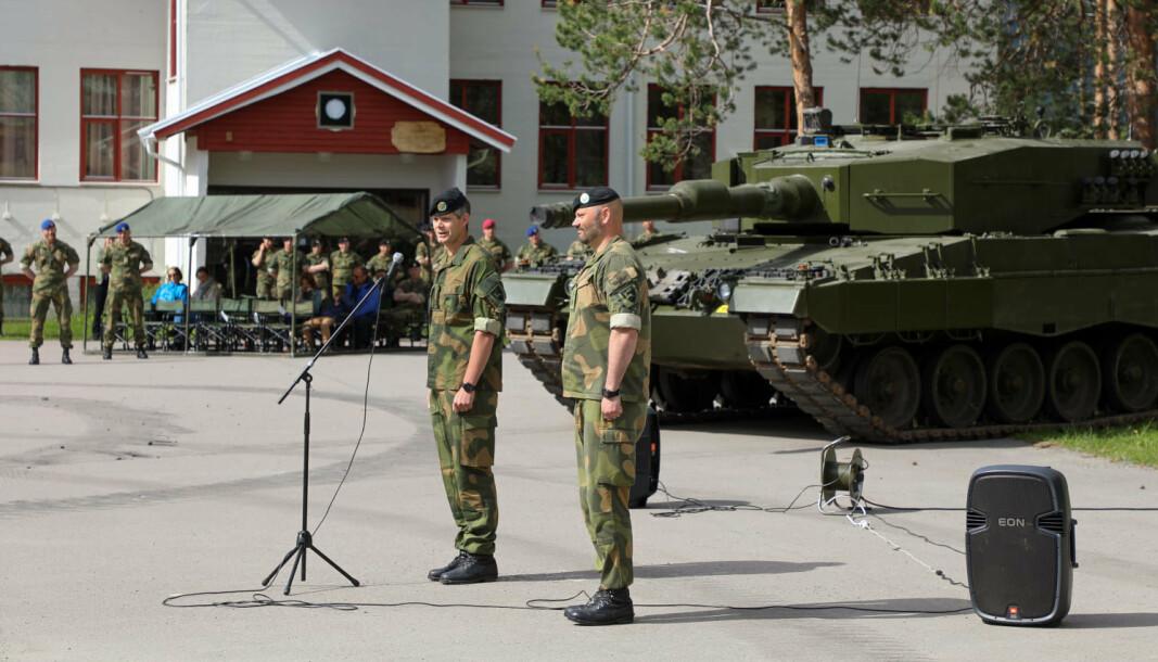 NY BATALJONSSJEF: Lars Jansen tok denne uken over som ny sjef for Panserbataljonen.