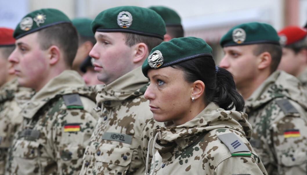 UTE: Tyske soldater fra 2009 som ble deployert til et oppdrag i Afghanistan. Nå har de siste tyske soldatene forlatt landet.
