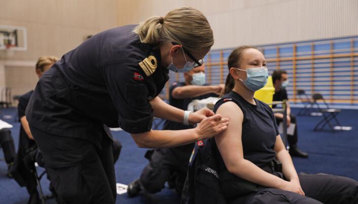 SOLDAT: Soldater og kadetter får vaksine tilbudt på basen.