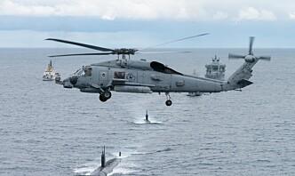 Øver på ubåtjakt i norske havområder