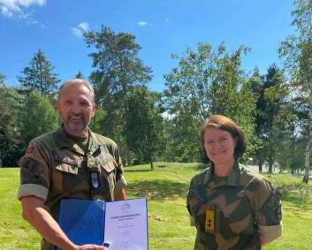 Sjefssersjant i Luftforsvaret har fått Forsvarsmedaljens tredje stjerne